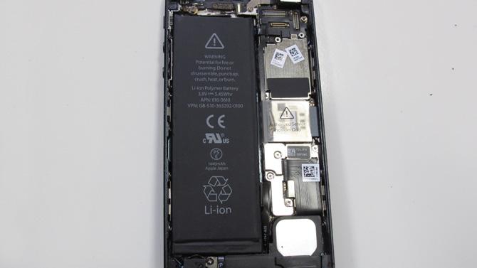 iPhone5 バッテリー